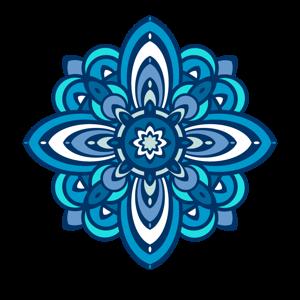 blue motif medium